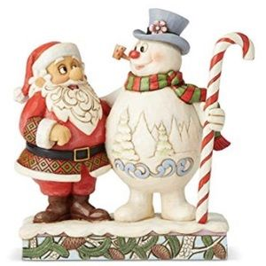 Jim Shore Santa & Frosty With Candy Figure